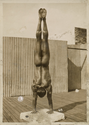 Tony Sansone in handstand pose