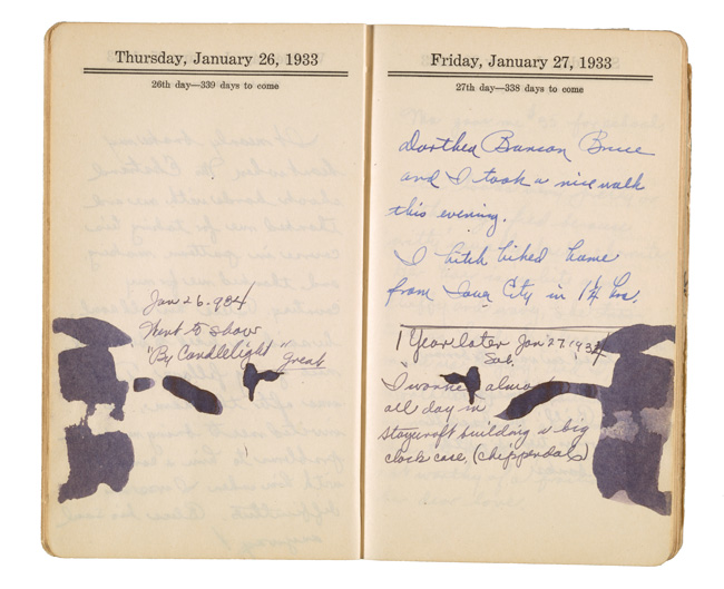 William E. L. Bunn diary, 1933. William E. L. Bunn papers, Archives of American Art, Smithsonian Institution.