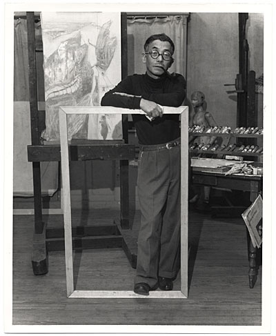 Kuniyoshi in his studio