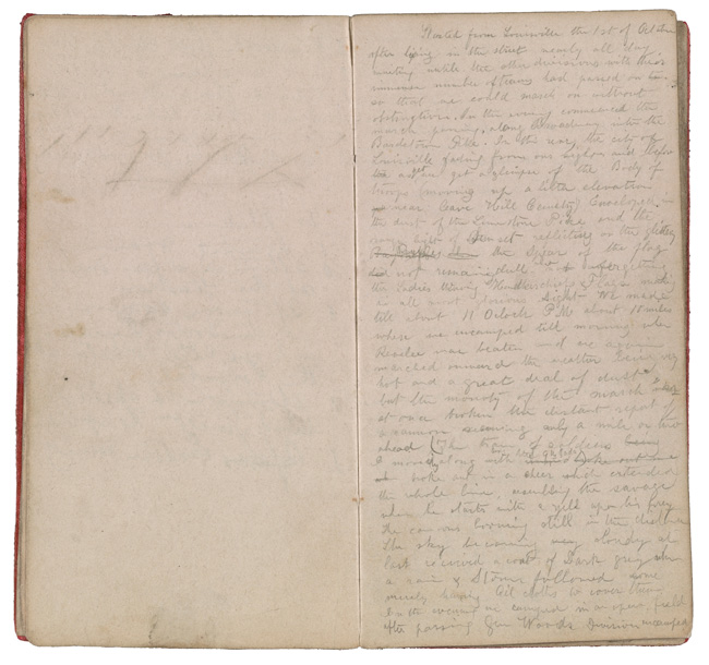 Henry Mosler Civil War diary, 1862. Henry Mosler papers, Archives of American Art, Smithsonian Institution.