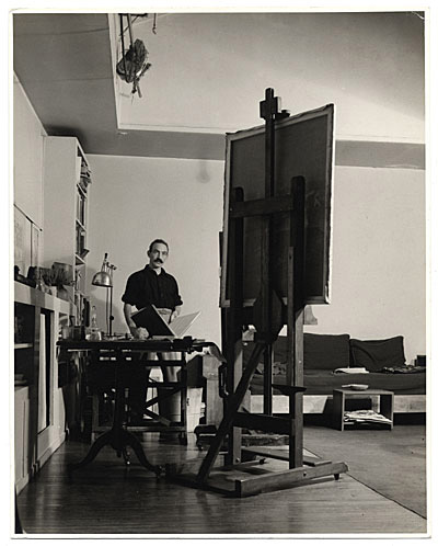 Photograph of Julian Levi in his studio