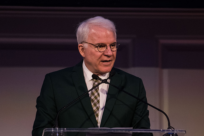 Actor, comedian, and collector Steve Martin accepting award at Annual