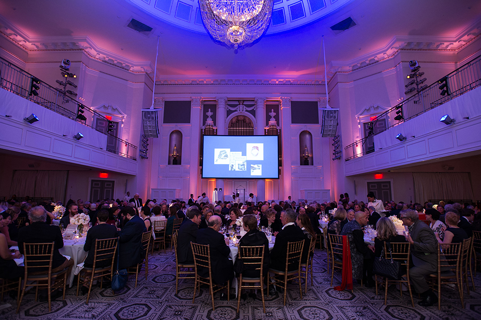 Attendees of the 2016 Annual Benefit seated