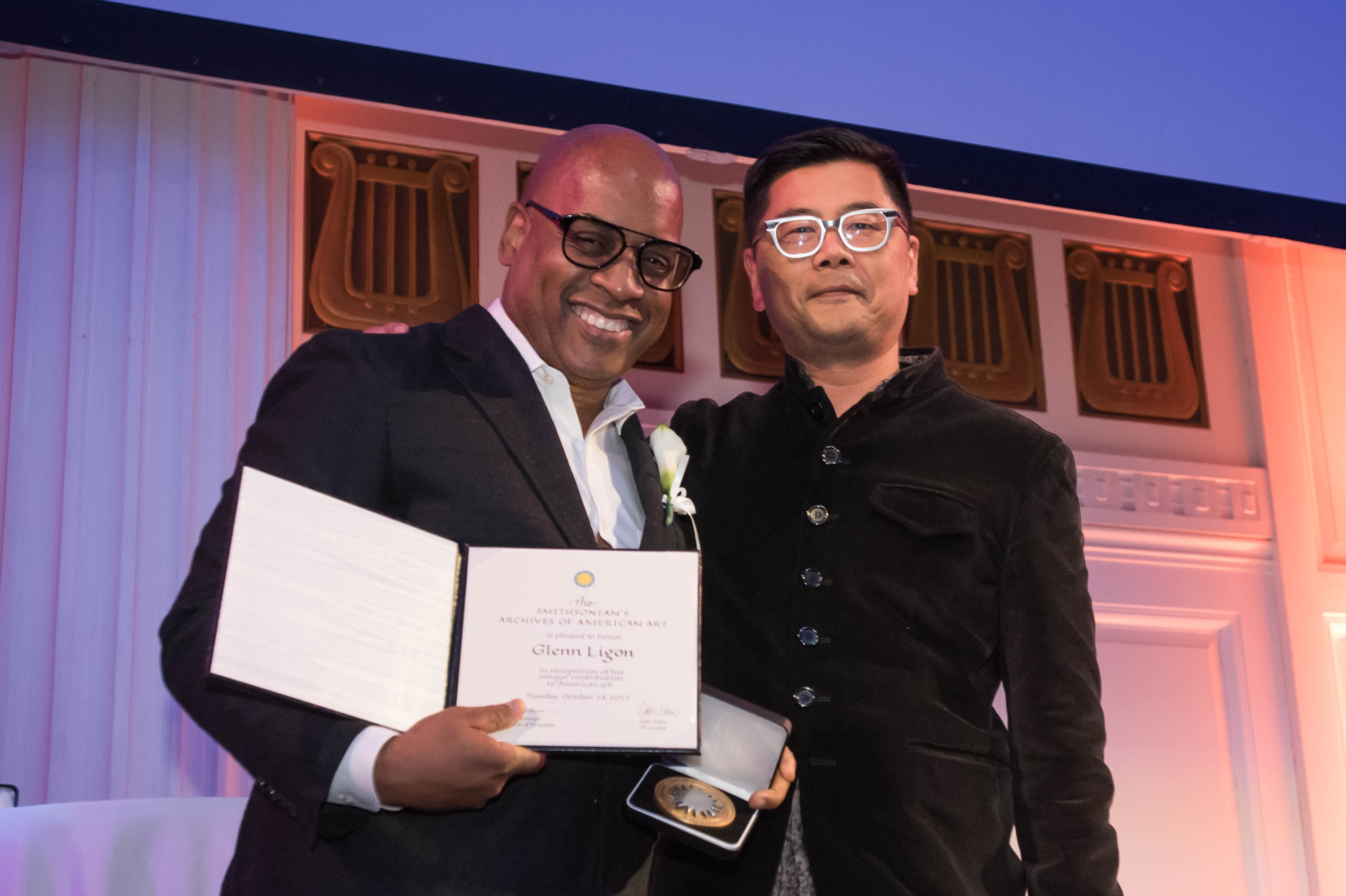 Photograph of Glenn Ligon and Ron Kim