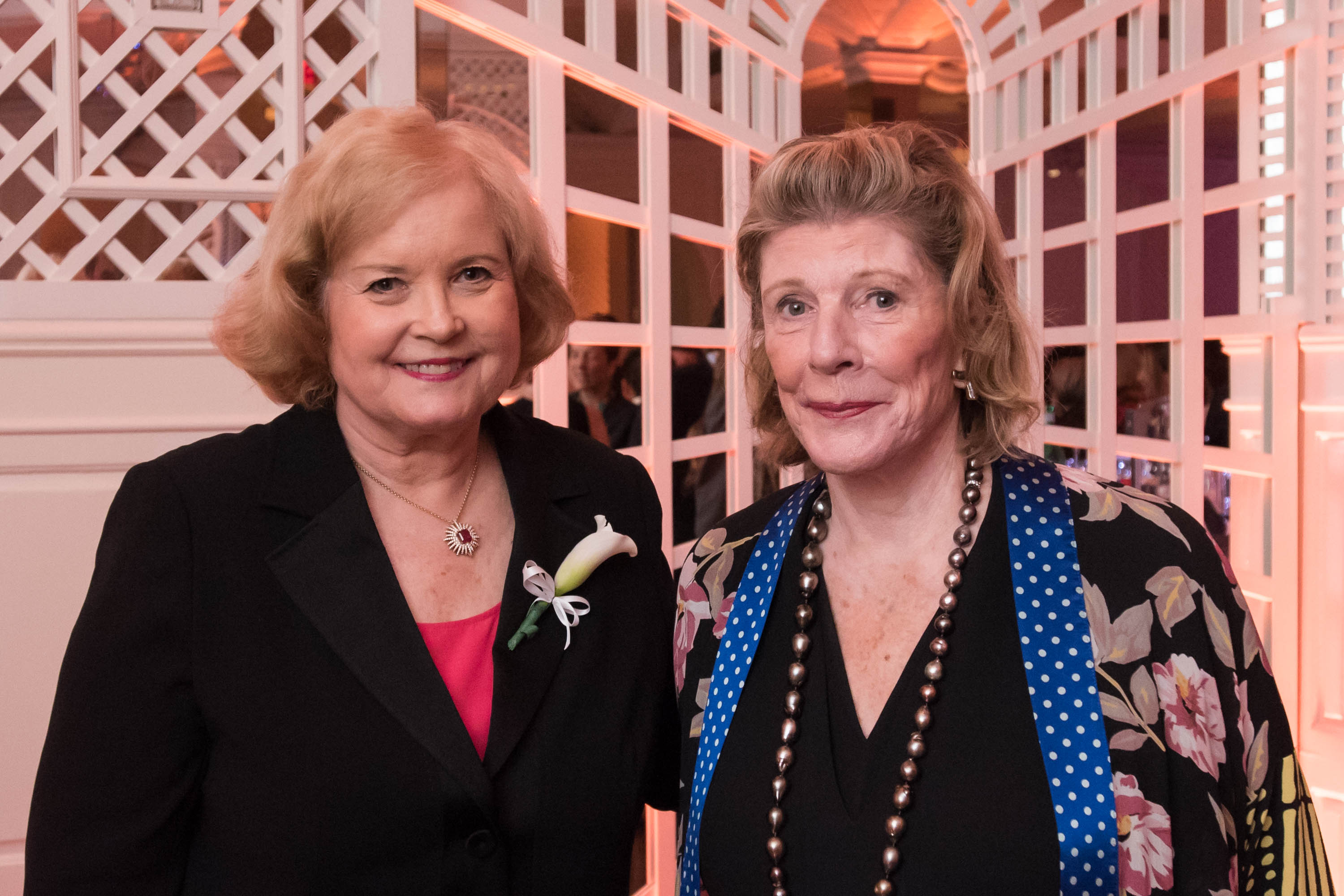 Photograph of Sharon Percy Rockefeller and Agnes Gund