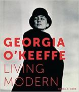 "Book cover of ""Georgia O'Keeffe: Living Modern"" by Wanda Corn"