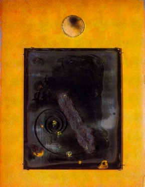 Figure 15. Arthur Dove, Portrait of Alfred Stieglitz, 1925, Camera lens, photographic plate, clock and watch springs, and steel wool on cardboard, 15 7/8 x 12 1/8 in., The Museum of Modern Art, New York, Purchase