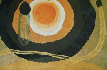 Figure 17. Arthur Dove, Sunrise I, 1936, Wax emulsion on canvas, 25 x 35 in, National Gallery of Art, Washington D.C., Shein Collection.