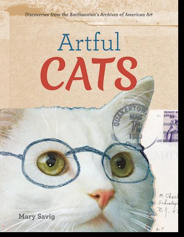 "Book cover of ""Artful Cats: Discoveries from the Archives of American Art"""