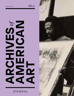 Front cover of Fall 2021 issue of the Archives of American Art Journal