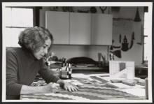 Adela Akers in her studio, 1990