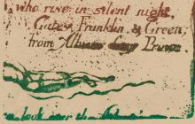 Detail of print from a plate made by William Blake