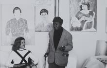 Photograph of Darthea Speyer and Beauford Delaney