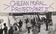 Detail of flyer advertising art action in New York in protest of the 1973 Chilean coup