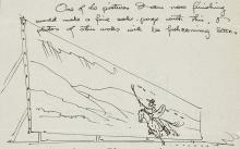 Detail of illustrated letter from Maynard Dixon to William Macbeth