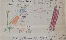 Miné Okubo letter to Kay Sekimachi Stocksdale, 1956 August 27
