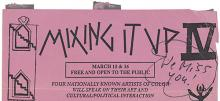 1991 flyer for the Mixing It Up IV symposium held at the University of Colorado, Boulder.