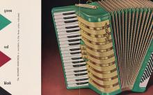 Detail of an advertisement brochure for the Hohner Marchesa accordion.