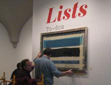 Installation shot of Lists exhibition