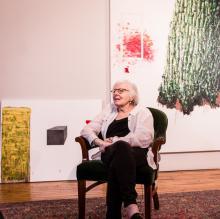 Vera Klement in her studio